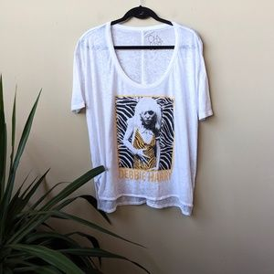 Chaser Blondie Burn Out Debbie Harry White Shirt